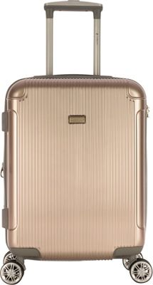 Gabbiano Genova 20 inch Expandable Carry-On Hardside Spinner Luggage Champagne - Gabbiano Hardside Carry-On