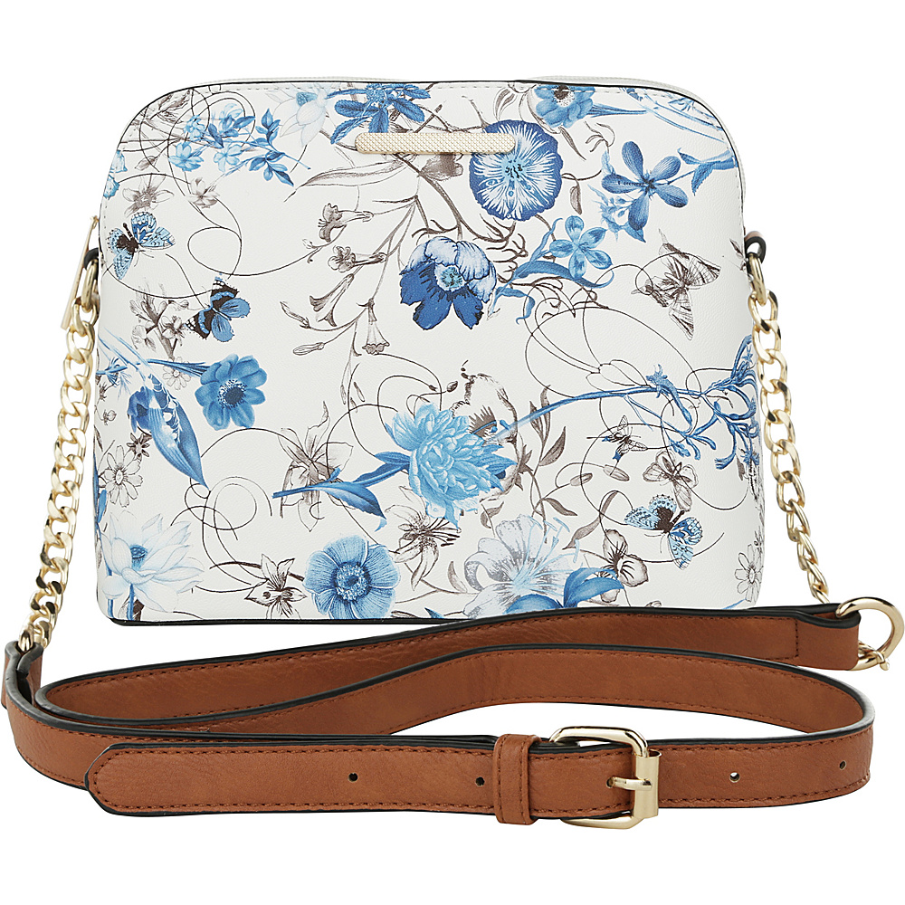 MKF Collection by Mia K. Farrow Delilah Messenger Crossbody Blue - MKF Collection by Mia K. Farrow Manmade Handbags - Handbags, Manmade Handbags