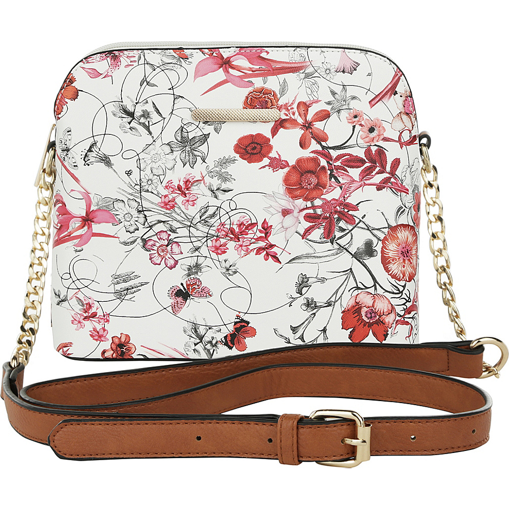 MKF Collection by Mia K. Farrow Delilah Messenger Crossbody Red - MKF Collection by Mia K. Farrow Manmade Handbags - Handbags, Manmade Handbags