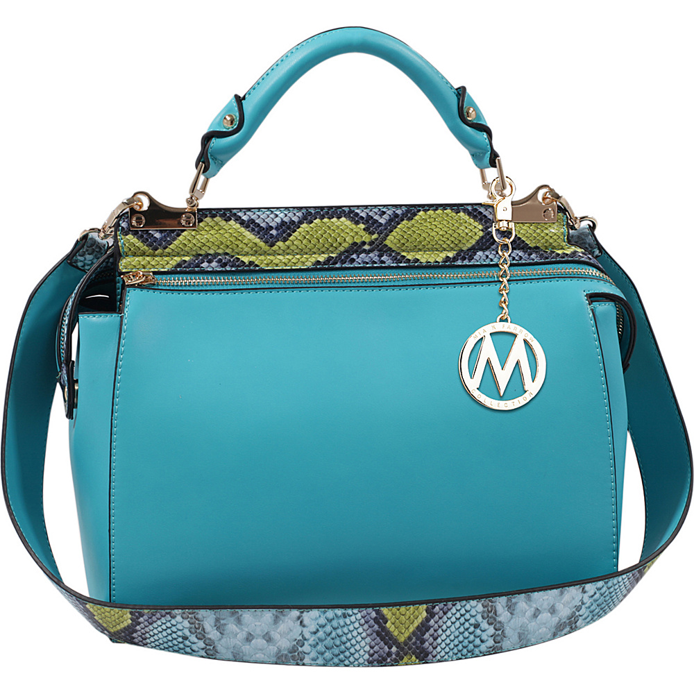 MKF Collection by Mia K. Farrow Valentina Satchel Turquoise - MKF Collection by Mia K. Farrow Manmade Handbags - Handbags, Manmade Handbags