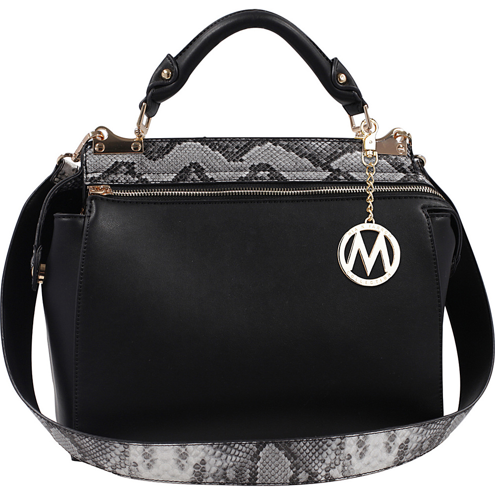 MKF Collection by Mia K. Farrow Valentina Satchel Black - MKF Collection by Mia K. Farrow Manmade Handbags - Handbags, Manmade Handbags