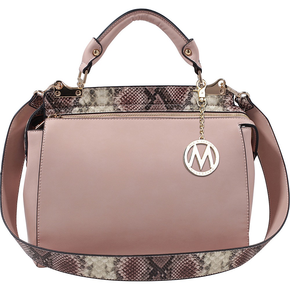MKF Collection by Mia K. Farrow Valentina Satchel Blush - MKF Collection by Mia K. Farrow Manmade Handbags - Handbags, Manmade Handbags