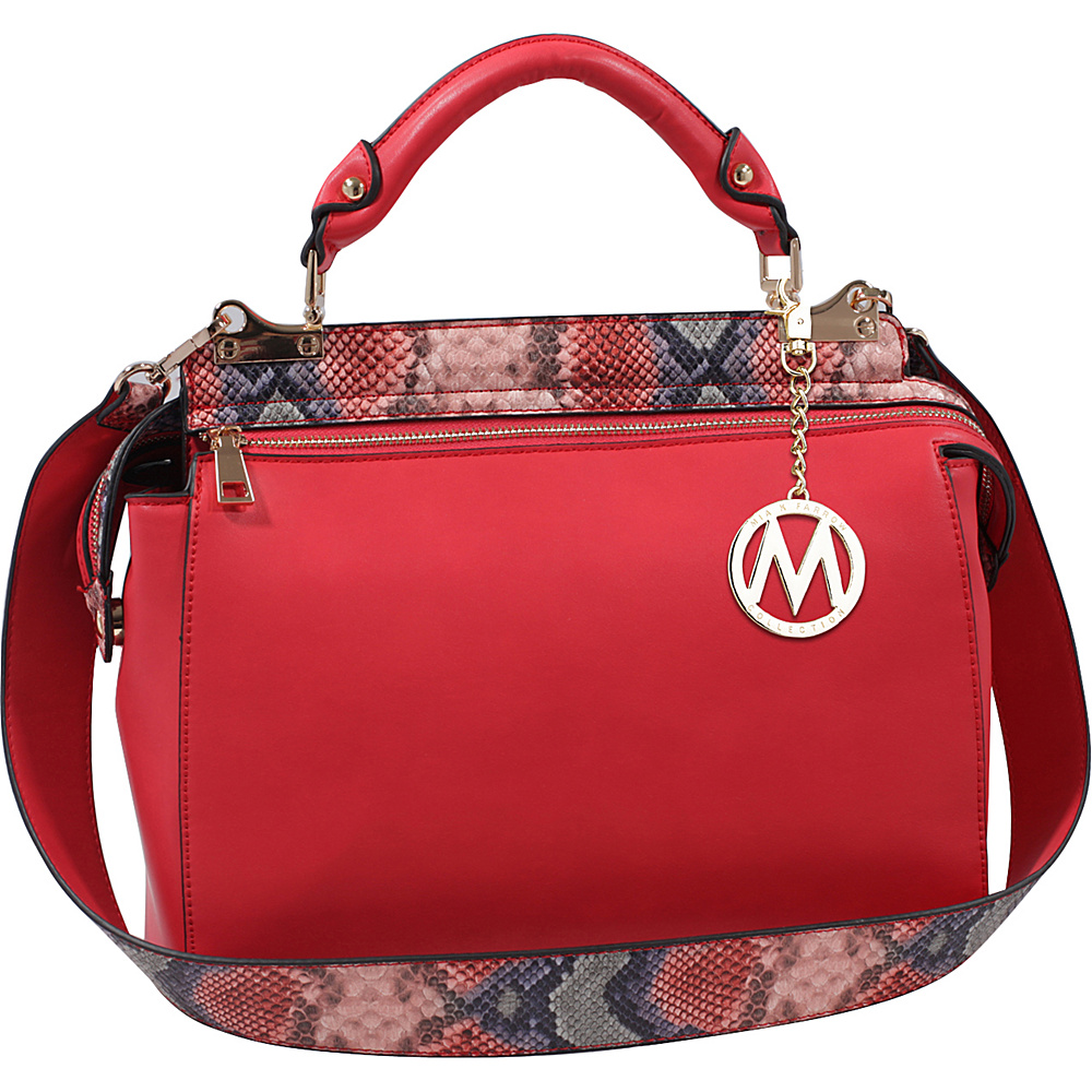 MKF Collection by Mia K. Farrow Valentina Satchel Red - MKF Collection by Mia K. Farrow Manmade Handbags - Handbags, Manmade Handbags