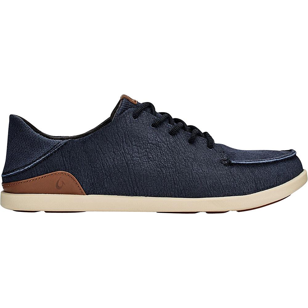 OluKai Mens Manoa Leather Slip-On 7 - Marlin/Toffee - OluKai Mens Footwear - Apparel & Footwear, Men's Footwear