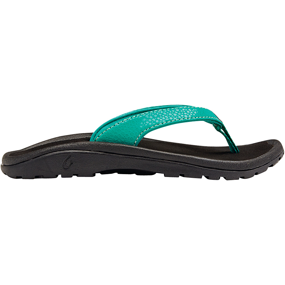OluKai Girls Kulapa Kai Sandal XS (US Kids) - Mermaid/Black - OluKai Womens Footwear - Apparel & Footwear, Women's Footwear