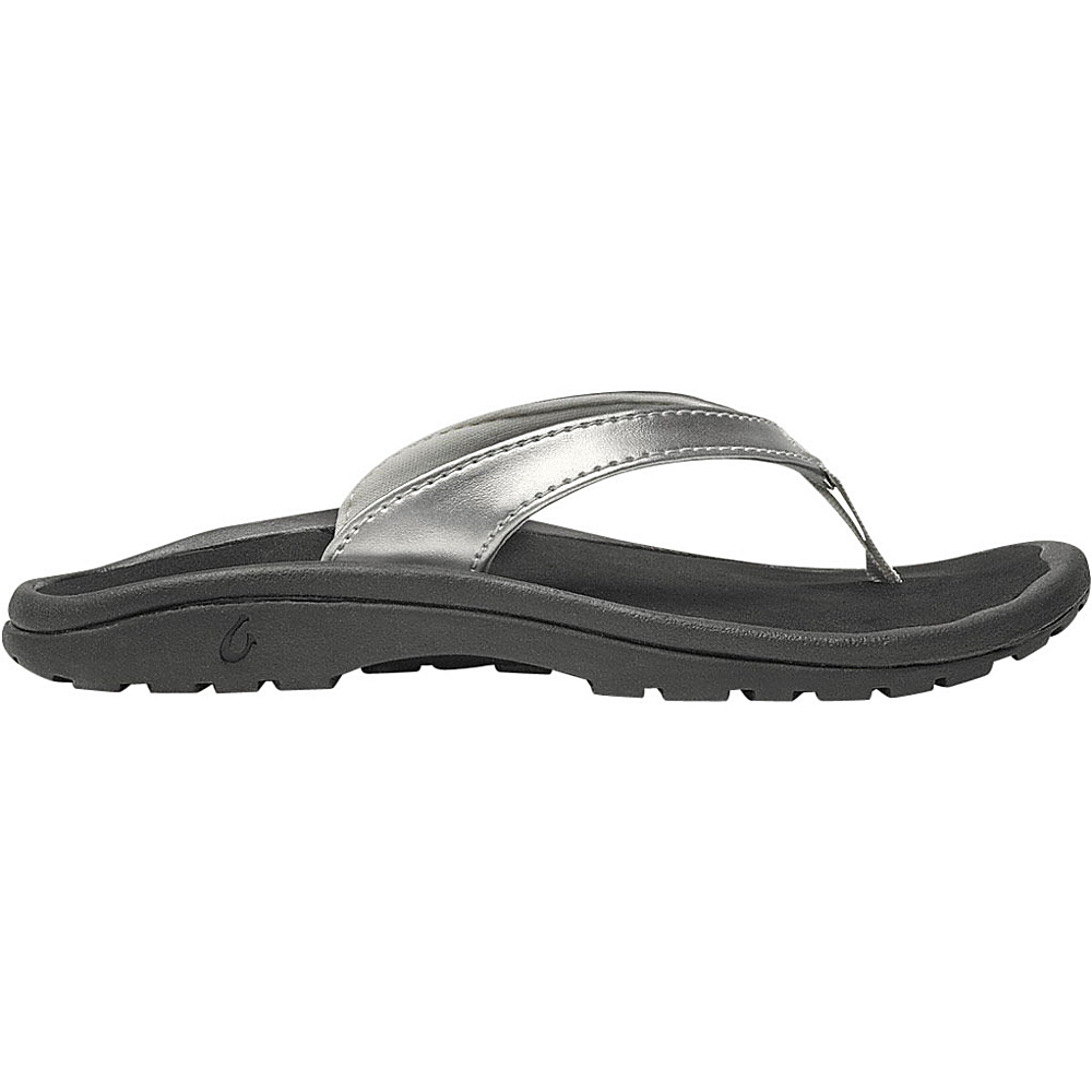OluKai Girls Kulapa Kai Sandal XS (US Kids) - Silver/Black - OluKai Womens Footwear - Apparel & Footwear, Women's Footwear