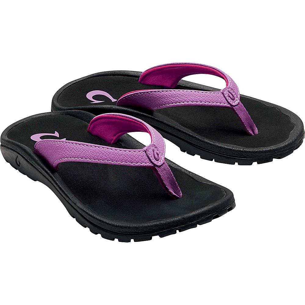OluKai Girls Kulapa Kai Sandal 9 (US Toddlers) - Dragon Fruit/Black - OluKai Womens Footwear - Apparel & Footwear, Women's Footwear
