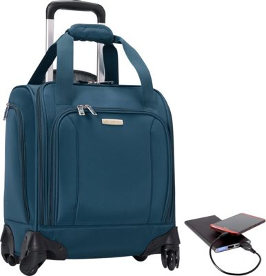 Samsonite Spinner Underseater with USB Port- Lifeboat Edition Majolica Blue - Samsonite Softside Carry-On