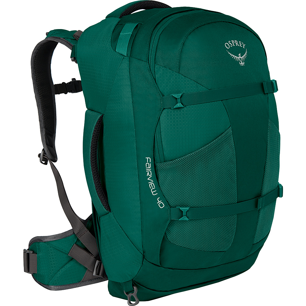 Osprey Womens Fairview 40L Travel Backpack Rainforest Green XS/S - Osprey Travel Backpacks - Backpacks, Travel Backpacks