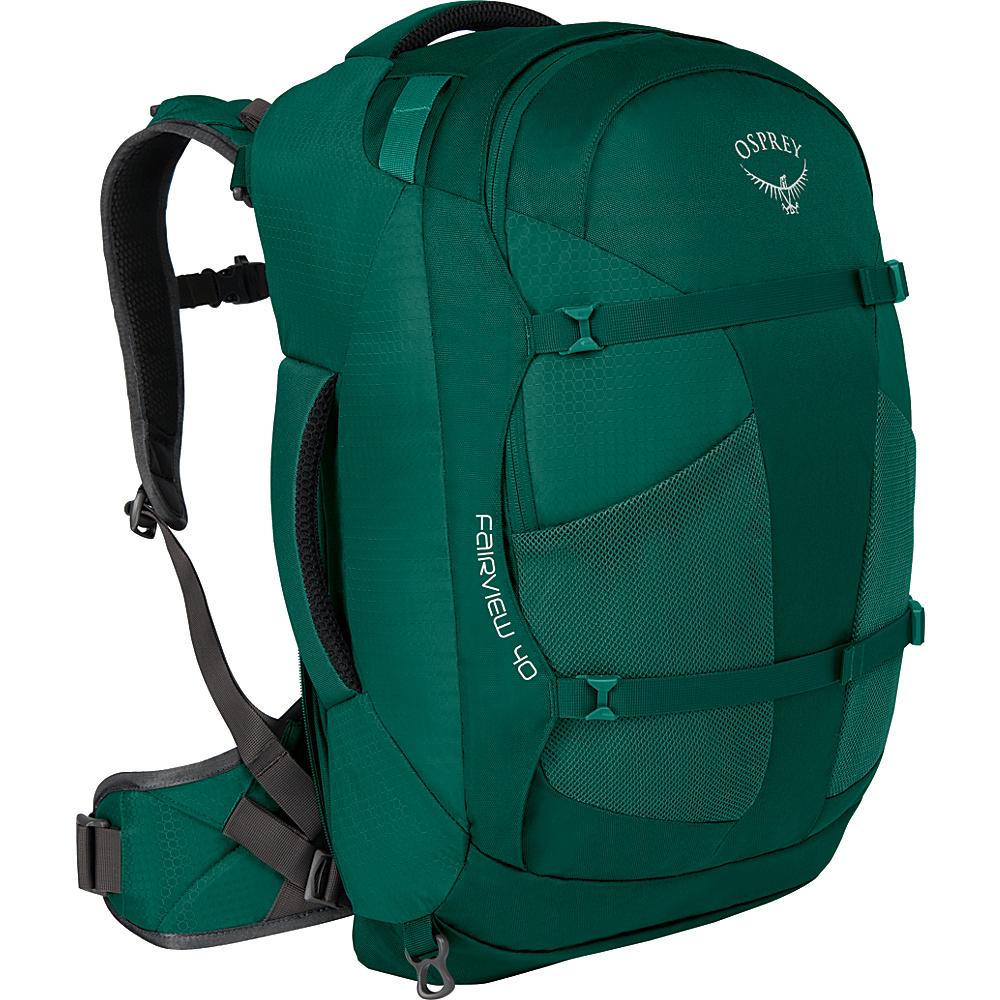 Osprey Womens Fairview 40L Travel Backpack Rainforest Green S/M - Osprey Travel Backpacks - Backpacks, Travel Backpacks