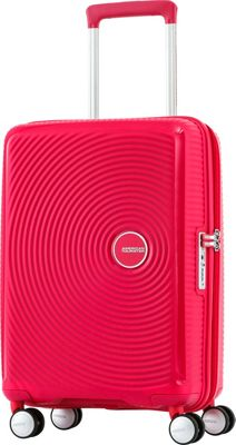 American Tourister Curio 20 inch Hardside Carry-On Spinner Luggage Pink - American Tourister Hardside Carry-On