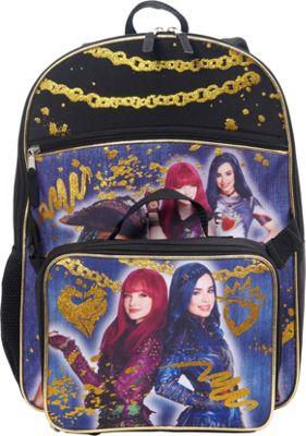 Disney Descendants Backpack with Lunch Bag Black - Disney Kids' Backpacks