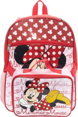 Disney Minnie Backpack with Lunch Bag Pink - Disney Kids' Backpacks