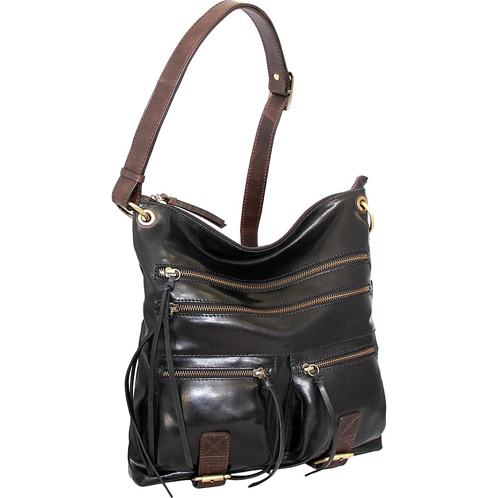 Nino Bossi Caitlin Crossbody Black - Nino Bossi Leather Handbags - Handbags, Leather Handbags