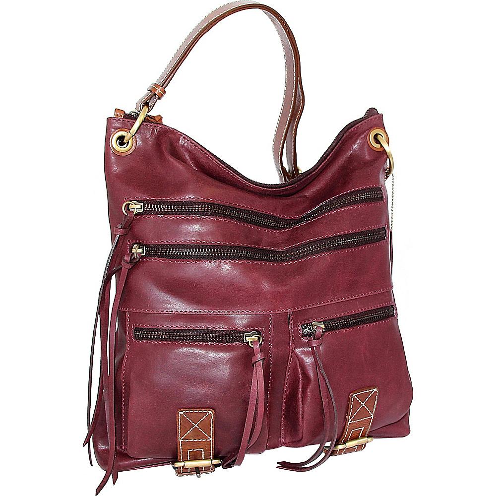 Nino Bossi Caitlin Crossbody Plum - Nino Bossi Leather Handbags - Handbags, Leather Handbags