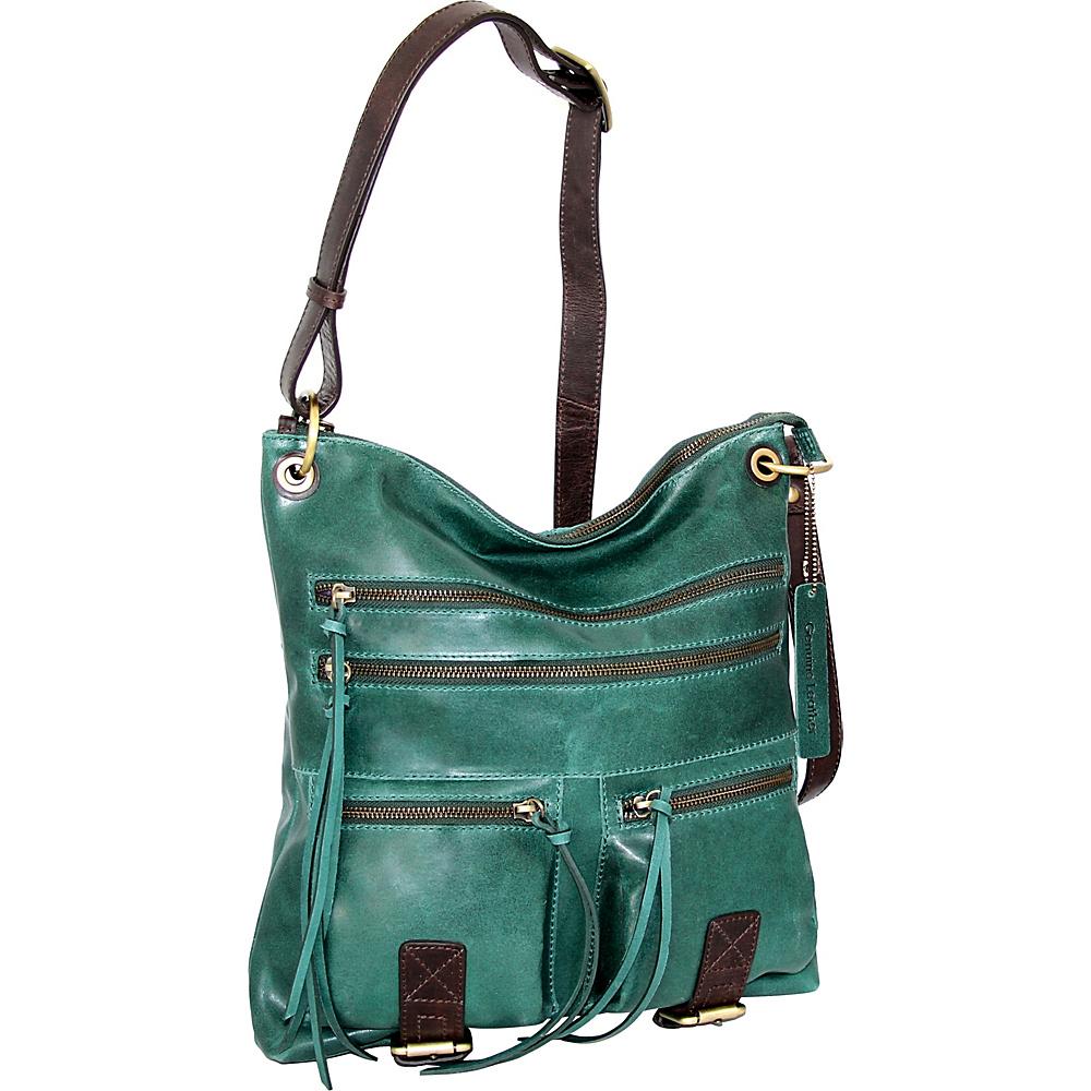 Nino Bossi Caitlin Crossbody Green - Nino Bossi Leather Handbags - Handbags, Leather Handbags
