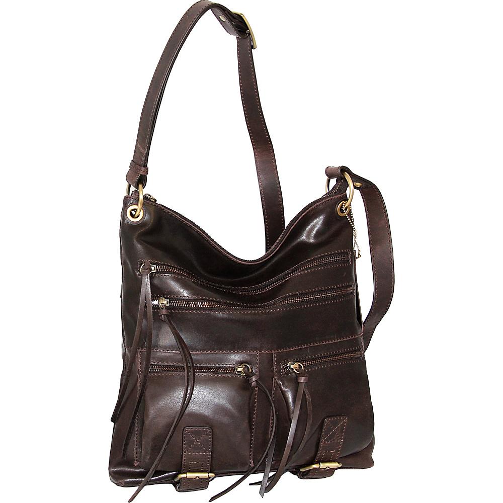 Nino Bossi Caitlin Crossbody Chocolate - Nino Bossi Leather Handbags - Handbags, Leather Handbags