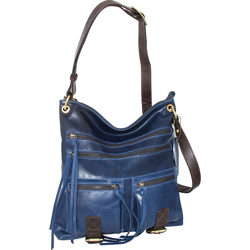 Nino Bossi Caitlin Crossbody Denim - Nino Bossi Leather Handbags - Handbags, Leather Handbags