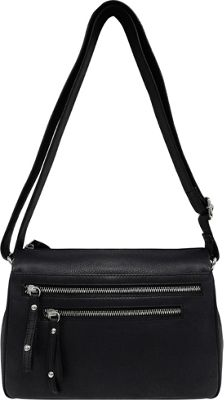 Great American Leatherworks Catania Adjustable Shoulder Bag Black - Great American Leatherworks Leather Handbags