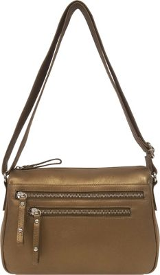 Great American Leatherworks Catania Adjustable Shoulder Bag Dark Bronze - Great American Leatherworks Leather Handbags