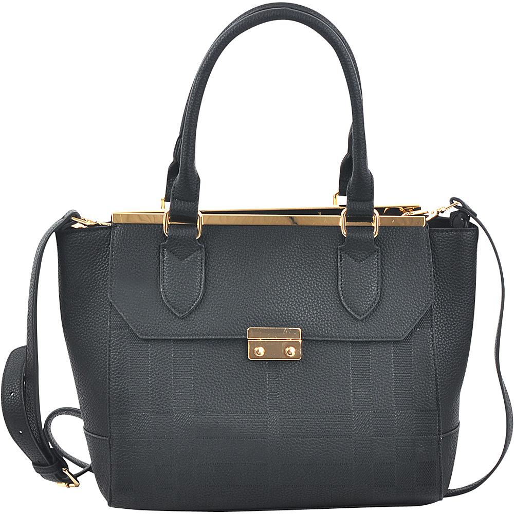 Dasein Fashion Satchel Black - Dasein Manmade Handbags - Handbags, Manmade Handbags