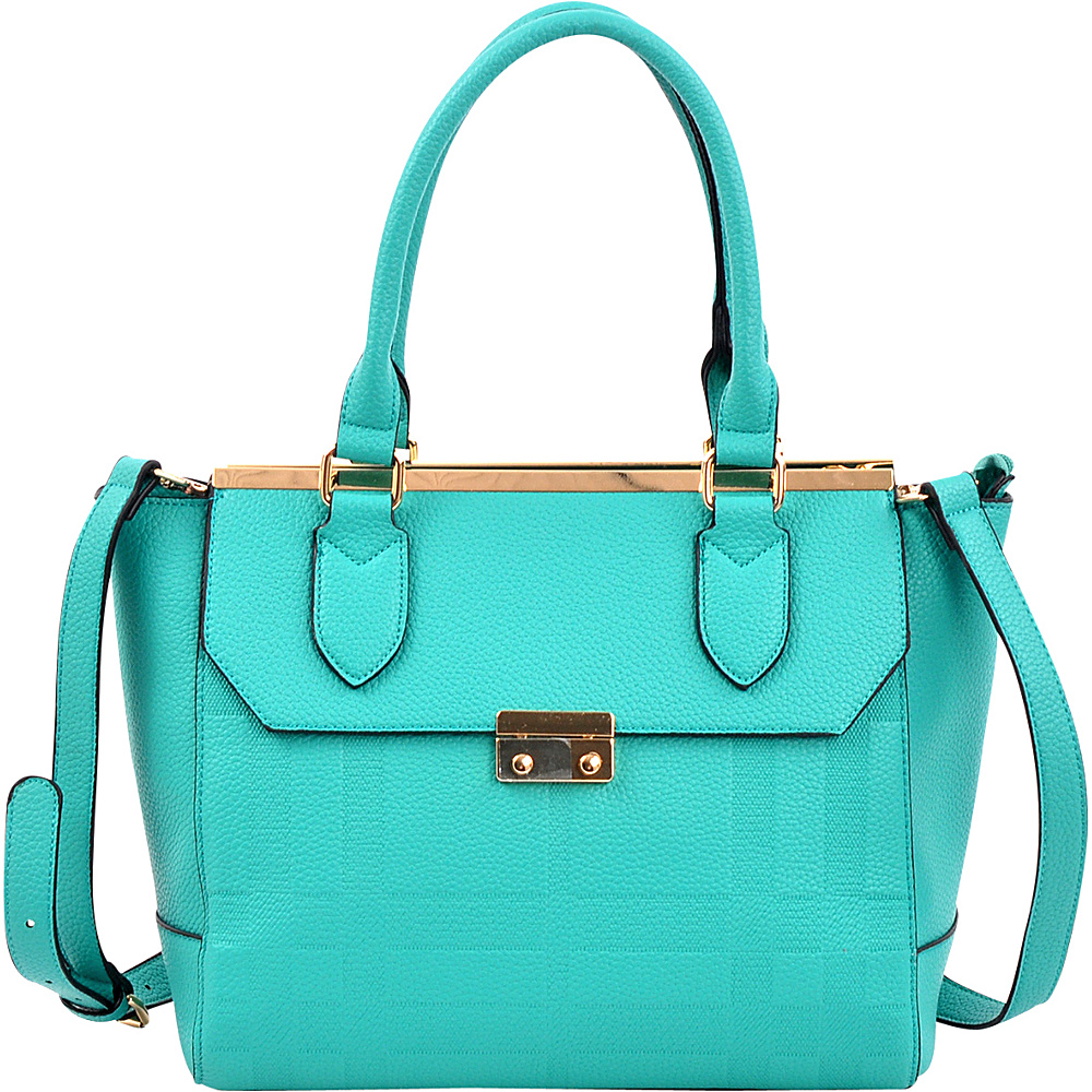 Dasein Fashion Satchel Green - Dasein Manmade Handbags - Handbags, Manmade Handbags