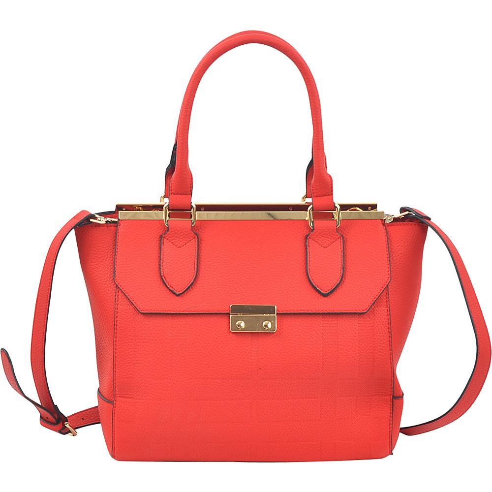 Dasein Fashion Satchel Red - Dasein Manmade Handbags - Handbags, Manmade Handbags