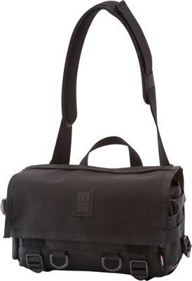 Topo Designs Field Bag Ballistic Black - Topo Designs Messenger Bags