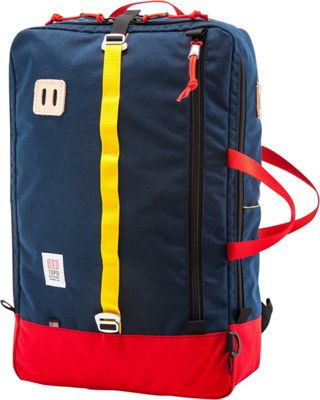Topo Designs Travel Bag Laptop Backpack Red/Navy - Topo Designs Travel Backpacks