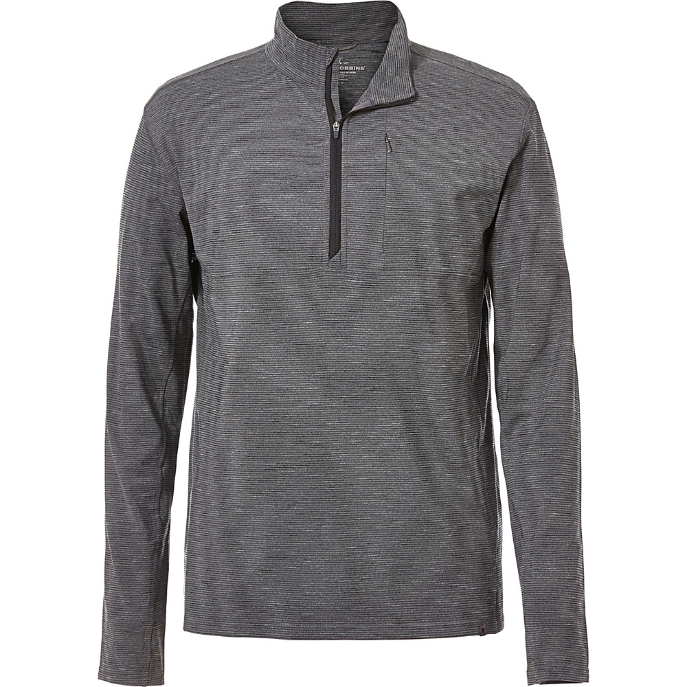 Royal Robbins Mens Long Distance 1/4 Zip XL-T - Charcoal - Royal Robbins Mens Apparel - Apparel & Footwear, Men's Apparel