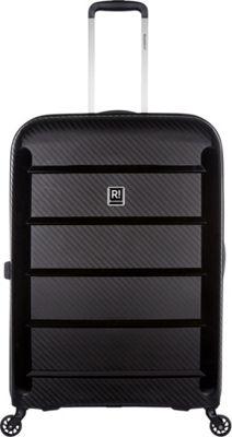 Revelation Tobago 30 inch Lightweight Hardside Checked Spinner Luggage Black - Revelation Large Rolling Luggage