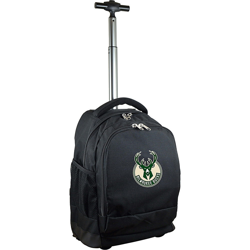 MOJO Denco NBA Premium Laptop Rolling Backpack Milwaukee Bucks - MOJO Denco Rolling Backpacks - Backpacks, Rolling Backpacks