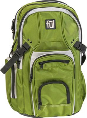 ful TMan 17 inch Laptop Backpack OLIVE - ful Business & Laptop Backpacks