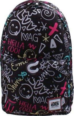 AfterGen Anti-Bully Backpack Super Cool Black - AfterGen School & Day Hiking Backpacks