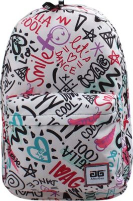 AfterGen Anti-Bully Backpack Super Cool White - AfterGen School & Day Hiking Backpacks