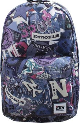 AfterGen Anti-Bully Backpack Skater Purple - AfterGen School & Day Hiking Backpacks