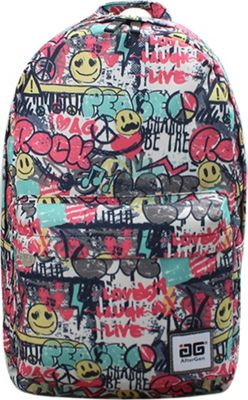 Image of AfterGen Anti-Bully Backpack Graffiti Love - AfterGen School & Day Hiking Backpacks