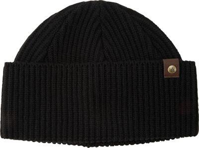 A Kurtz Leather Tab Shorman Watchcap One Size - Black - A Kurtz Hats/Gloves/Scarves