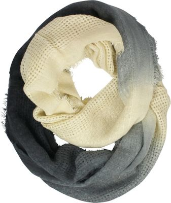 Woolrich Accessories Open Check Ombre Eternity Scarf Black - Woolrich Accessories Hats/Gloves/Scarves