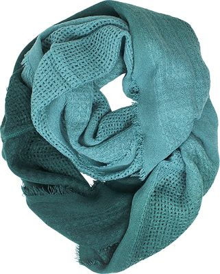 Woolrich Accessories Open Check Ombre Eternity Scarf Ocean Blue - Woolrich Accessories Hats/Gloves/Scarves