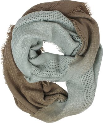 Woolrich Accessories Open Check Ombre Eternity Scarf Storm Gray - Woolrich Accessories Hats/Gloves/Scarves
