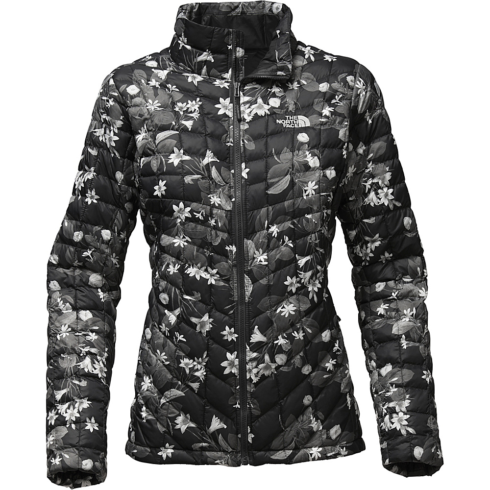 The North Face Womens Thermoball Full Zip S - TNF Black Late Bloomer Print - The North Face Womens Apparel - Apparel & Footwear, Women's Apparel