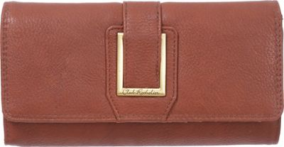 Club Rochelier Clutch Wallet with Checkbook and Gusset Cognac - Club Rochelier Women's Wallets