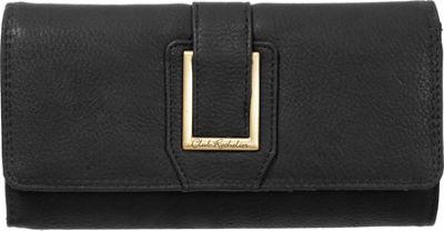 Club Rochelier Clutch Wallet with Checkbook and Gusset Black - Club Rochelier Women's Wallets