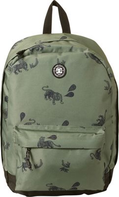 DC Shoes Men's Backstack Print 18.5L Medium Laptop Backpack Vintage Green Tiger Ambush - DC Shoes Laptop Backpacks