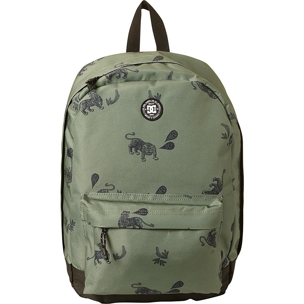 DC Shoes Men's Backstack Print 18.5L Medium Laptop Backpack Vintage Green Tiger Ambush - DC Shoes Laptop Backpacks