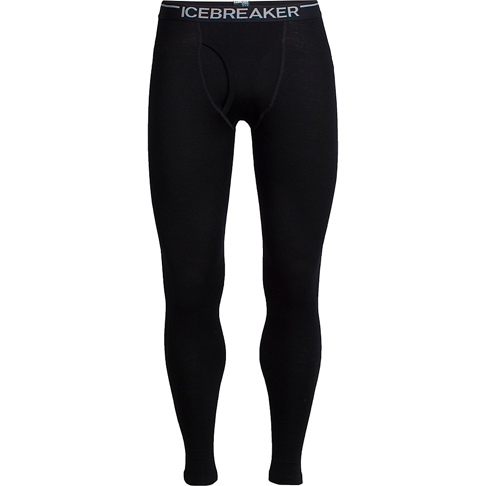 Icebreaker Mens Tech Leggings with Fly L - Black - Icebreaker Mens Apparel - Apparel & Footwear, Men's Apparel