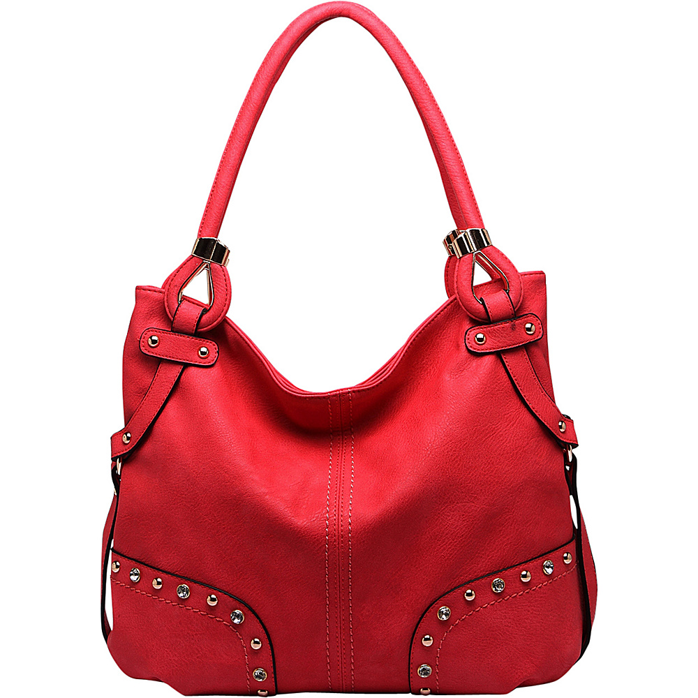 MKF Collection by Mia K. Farrow Nichole Shoulder Bag Red - MKF Collection by Mia K. Farrow Manmade Handbags - Handbags, Manmade Handbags
