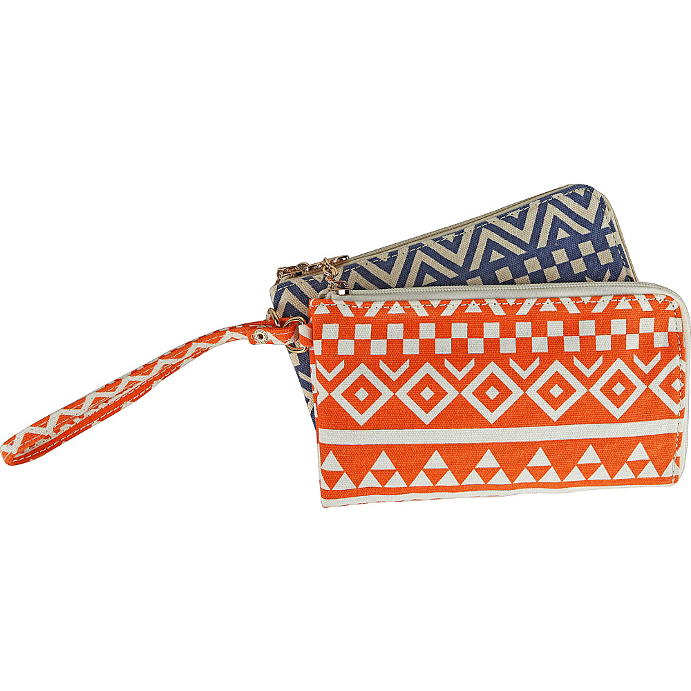 MKF Collection by Mia K. Farrow Tropical Breeze Wristlet Wallet Triangles - MKF Collection by Mia K. Farrow Womens Wallets - Women's SLG, Women's Wallets