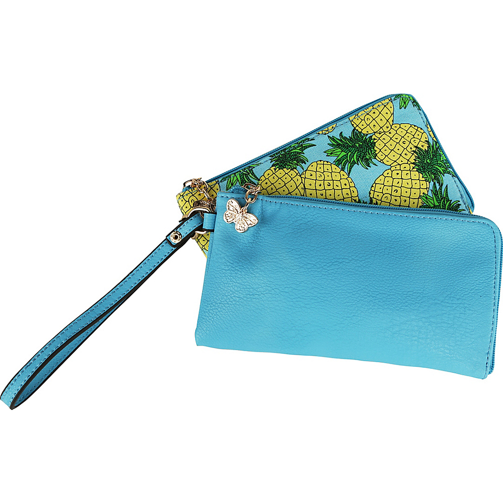 MKF Collection by Mia K. Farrow Tropical Breeze Wristlet Wallet Blue - MKF Collection by Mia K. Farrow Womens Wallets - Women's SLG, Women's Wallets